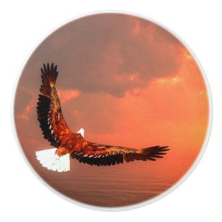 Eagle die 3D vliegen - geef terug Keramische Knop