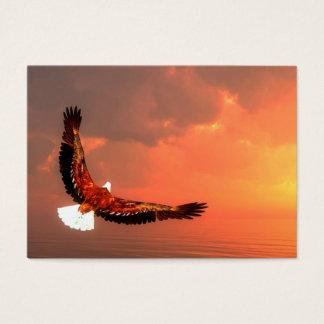 Eagle die aan de 3D zon vliegen - geef terug Visitekaartjes