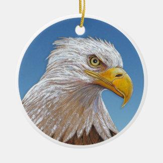 Eagle Rond Keramisch Ornament