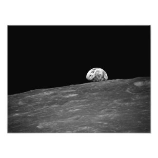 Earthrise van Apollo 8 de Opdracht van de Maan Foto Afdrukken