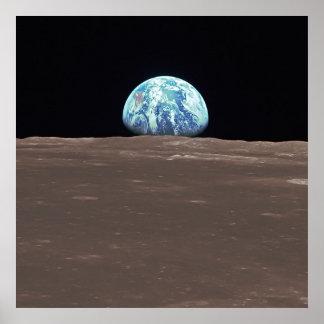 Earthrise van de Maan Poster