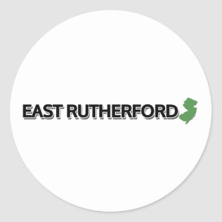 East Rutherford, New Jersey Ronde Sticker