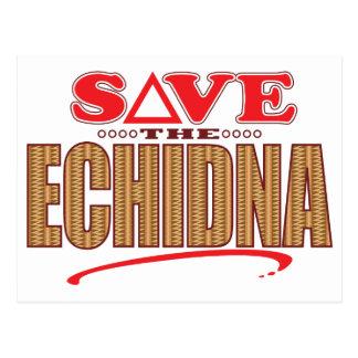 Echidna spaart briefkaart