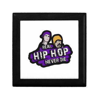 Echt Hip Hop sterft nooit Vierkant Opbergdoosje Small