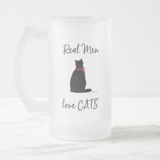 Echt-man-liefde-katten, Grafische Koel Matglas Bierpul