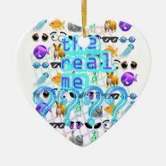 Echt me keramisch hart ornament