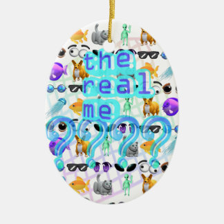 Echt me keramisch ovaal ornament