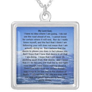 Echt Zilveren Gebed van het Ketting van Thomas Mer