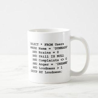 Echte SQL Koffiemok