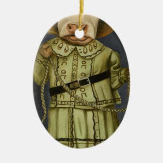 Echte Veedrijfster 2 Keramisch Ovaal Ornament
