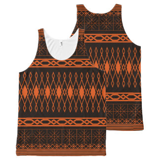 Eclectic Pattern (tangerine) All-Over-Print Tank Top