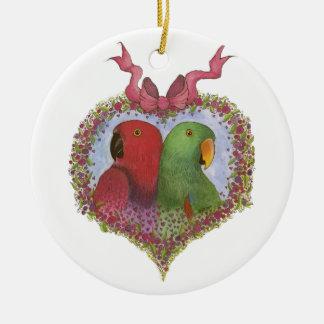 Eclectus door Susie Christian Rond Keramisch Ornament