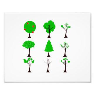 eco design.png van de negen boom eenvoudige grafie foto