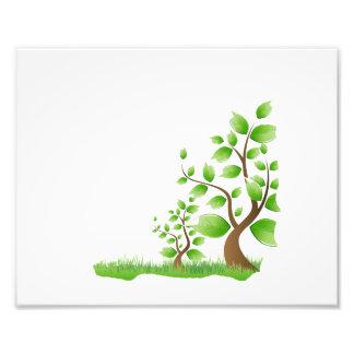 eco design.png van de twee abstracte bomen juiste  fotografische afdruk