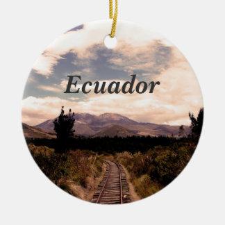 Ecuador Rond Keramisch Ornament