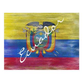 Ecuador verontruste vlag briefkaart