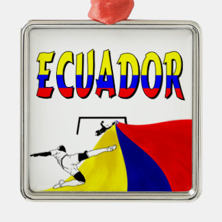 Ecuador Zilverkleurig Vierkant Ornament