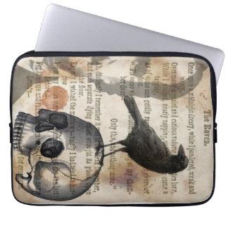 Edgar Allan Poe het Laptop van de Raaf & van de Laptop Sleeve