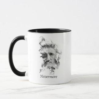 Edgar Allan Poe in Rook met Raaf - Nevermore Mok