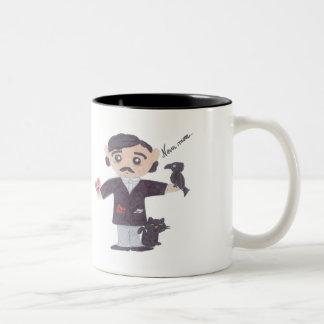 Edgar Allan Poe Tweekleurige Koffiemok