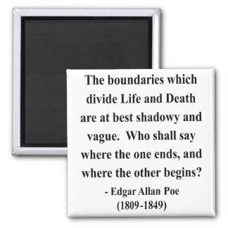 Edgar Allen Poe Quote 10a Magneet