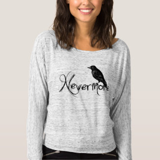 Edgar Allen Poe Raven Nevermore Halloween Longsleeve