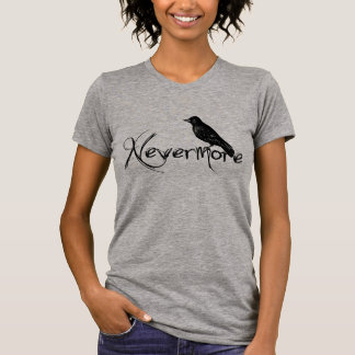 Edgar Allen Poe Raven Nevermore Halloween T Shirt