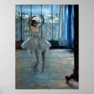 Edgar Degas | Danser voor een Venster Poster