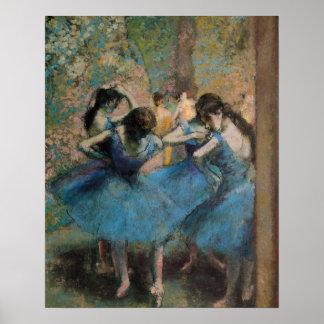Edgar Degas | Dansers in blauw, 1890 Poster