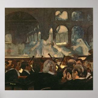 Edgar Degas | de balletscène, de opera van Poster