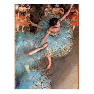 Edgar Degas - de Greens dansers Briefkaart