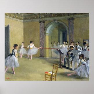 Edgar Degas | de Lounge van de Dans bij de Opera Poster