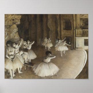 Edgar Degas - de Repetitie van het Ballet op Poster