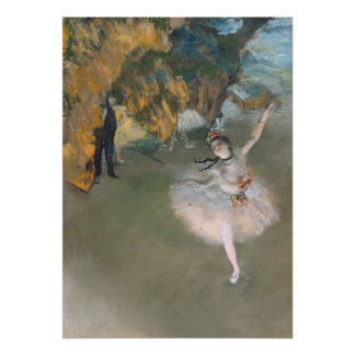 Edgar Degas | de Ster, of Danser op het stadium Poster