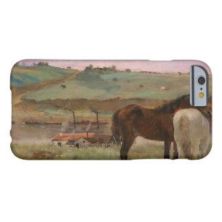 Edgar Degas - Paarden in een Weide Barely There iPhone 6 Hoesje