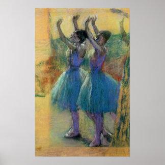 Edgar Degas | Twee Blauwe Dansers Poster