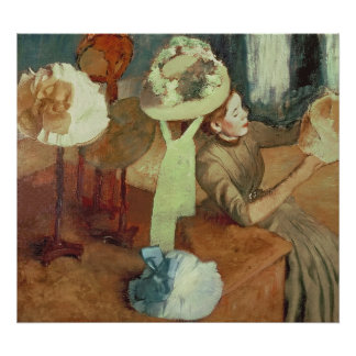 Edgar Degas | Winkel van Modeartikelen, 1879/86 Poster