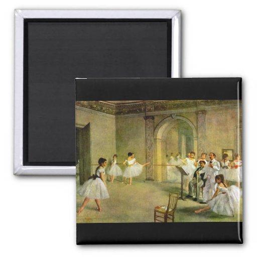 Edgar degas zaal van het ballet van de opera in magneten zazzle - Versiering van de zaal van het tienermeisje van ...