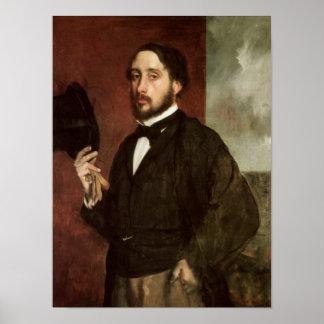 Edgar Degas | Zelfportret, c.1862 Poster