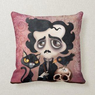 Edgar Poet Throw Pillow Sierkussen