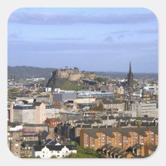 Edinburgh, Schotland. Uitzicht centraal overzien Vierkante Sticker