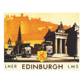 Edinburgh via Het Poster van het lner- Spoor Briefkaart