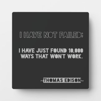 Edison 10.000 het Citaat van de Typografie van de Fotoplaat