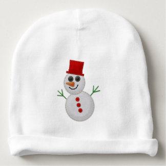 EDITABLE gevoelde Sneeuwman Baby Mutsje