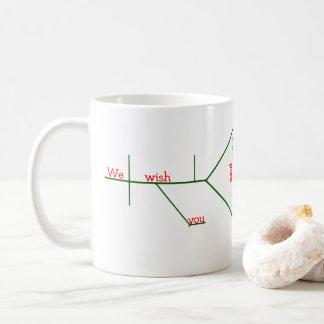 EDITABLE grammaticaal Vrolijke Kerstmis Diagrammed Koffiemok
