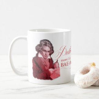 EDITABLE klassieke Muziek met Beethoven Valentijn Koffiemok