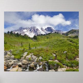 Edith Creek en wildflower weiden bij Paradijs Poster