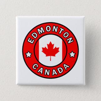 Edmonton Canada Vierkante Button 5,1 Cm