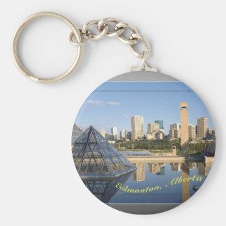 Edmonton keychain basic ronde button sleutelhanger
