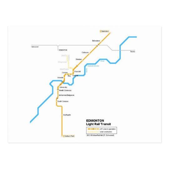Edmonton subway postcard briefkaart